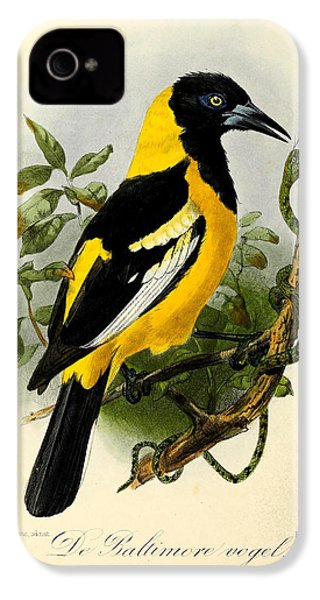 Baltimore Oriole IPhone 4 / 4s Case by J G Keulemans