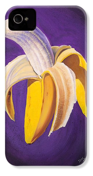 Banana Half Peeled IPhone 4 / 4s Case by Karl Melton