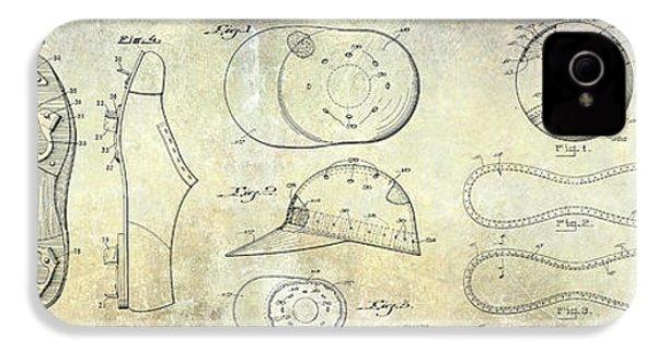 Baseball Patent Panoramic IPhone 4 / 4s Case by Jon Neidert
