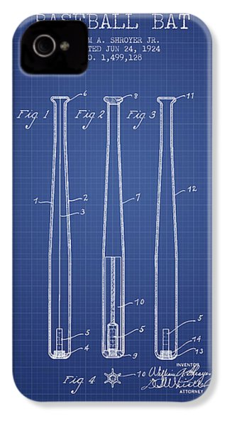 Baseball Bat Patent From 1924 - Blueprint IPhone 4 / 4s Case by Aged Pixel