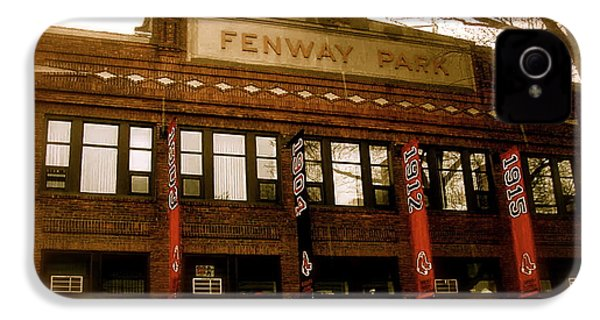 Baseballs Classic  V Bostons Fenway Park IPhone 4 / 4s Case by Iconic Images Art Gallery David Pucciarelli