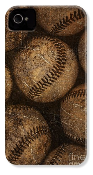 Baseballs IPhone 4 / 4s Case by Diane Diederich