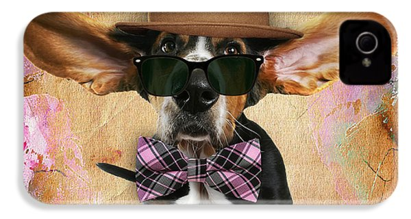 Bassett Hound Bowtie Collection IPhone 4 / 4s Case by Marvin Blaine