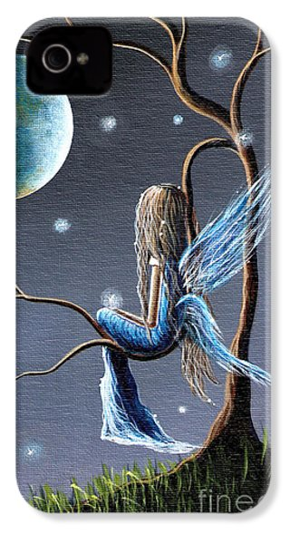 Fairy Art Print - Original Artwork IPhone 4 / 4s Case by Shawna Erback