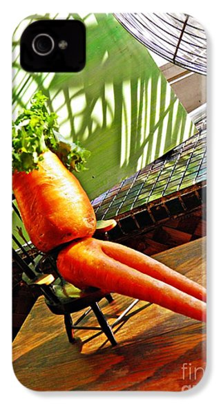 Beer Belly Carrot On A Hot Day IPhone 4 / 4s Case by Sarah Loft