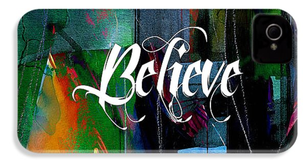 Believe Inspirational Art IPhone 4 / 4s Case by Marvin Blaine