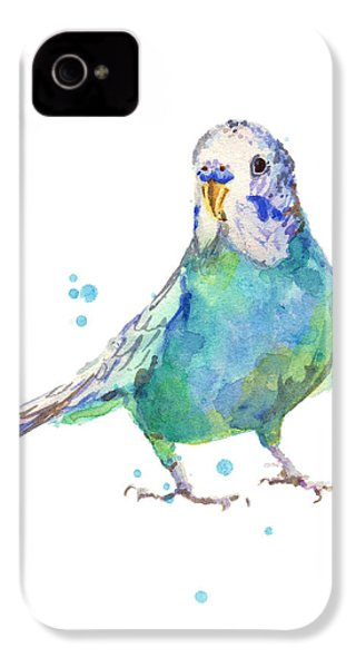 Bertie Wonderblue The Budgie IPhone 4 / 4s Case by Alison Fennell