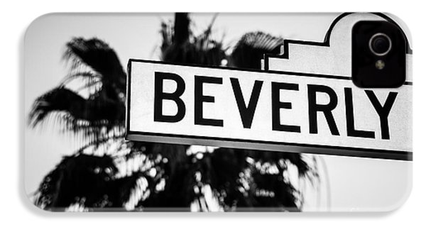 Beverly Boulevard Street Sign In Black An White IPhone 4 / 4s Case by Paul Velgos