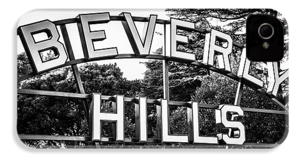 Beverly Hills Sign In Black And White IPhone 4 / 4s Case by Paul Velgos