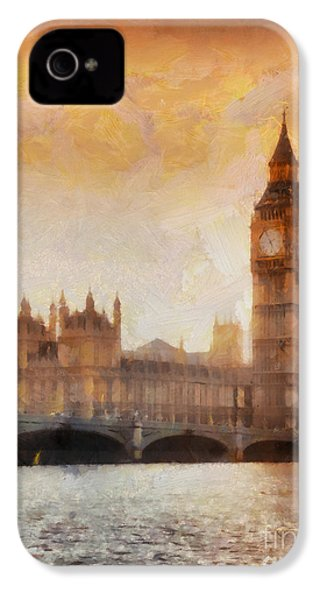 Big Ben At Dusk IPhone 4 / 4s Case by Pixel Chimp