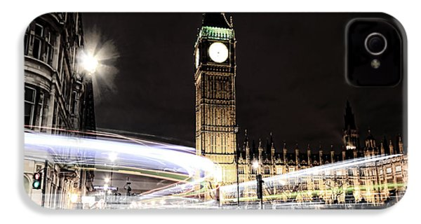 Big Ben With Light Trails IPhone 4 / 4s Case by Jasna Buncic