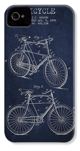 Bisycle Patent Drawing From 1898 IPhone 4 / 4s Case by Aged Pixel