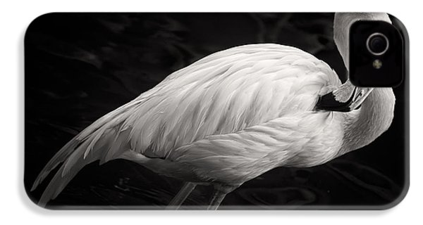 Black And White Flamingo IPhone 4 / 4s Case by Adam Romanowicz