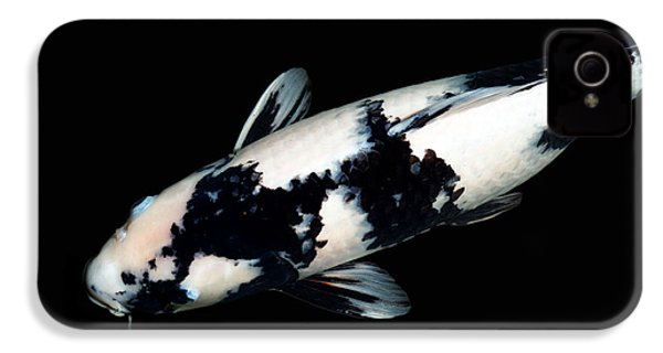 Black And White Koi IPhone 4 / 4s Case by Rebecca Cozart