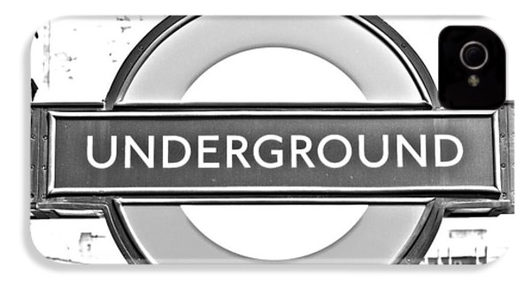 Black And White Underground IPhone 4 / 4s Case by Georgia Fowler