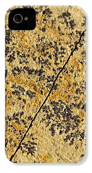 Black Patterns On The Sandstone IPhone 4 / 4s Case by Jozef Jankola