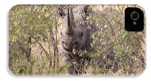 Black Rhino  IPhone 4 / 4s Case by Chris Scroggins