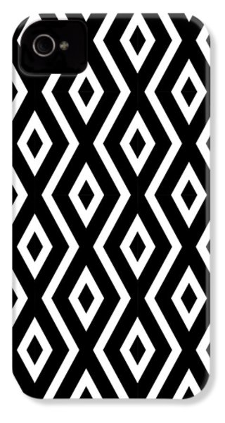 Black And White Pattern IPhone 4 / 4s Case by Christina Rollo
