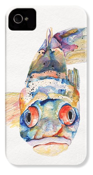 Blue Fish   IPhone 4 / 4s Case by Pat Saunders-White
