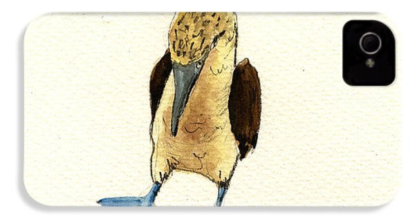 Blue Footed Booby IPhone 4 / 4s Case by Juan  Bosco