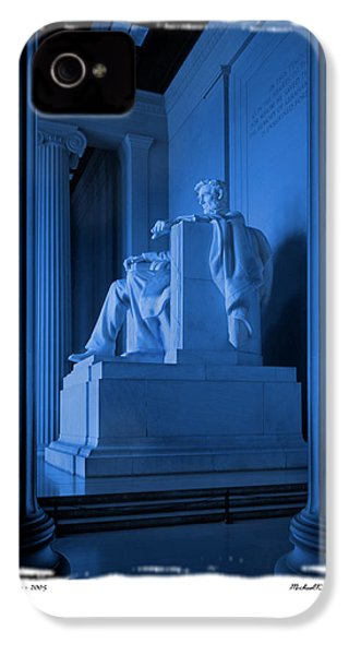 Blue Lincoln IPhone 4 / 4s Case by Mike McGlothlen