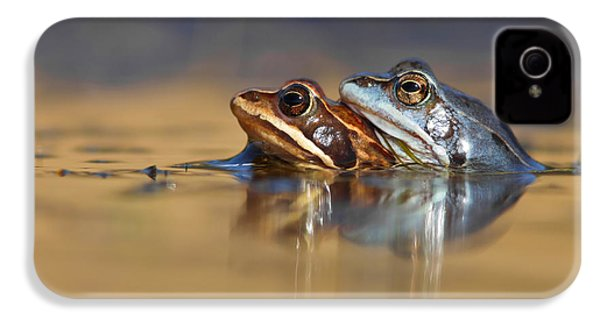 Blue Love ... Mating Moor Frogs  IPhone 4 / 4s Case by Roeselien Raimond