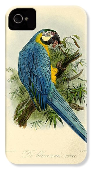 Blue Parrot IPhone 4 / 4s Case by J G Keulemans