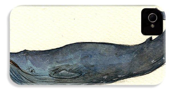 Blue Whale IPhone 4 / 4s Case by Juan  Bosco