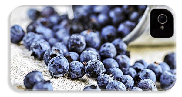 Blueberries IPhone 4 / 4s Case by Elena Elisseeva