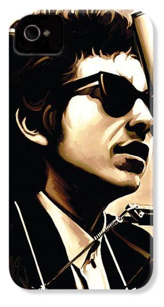 Bob Dylan Artwork 3 IPhone 4 / 4s Case by Sheraz A
