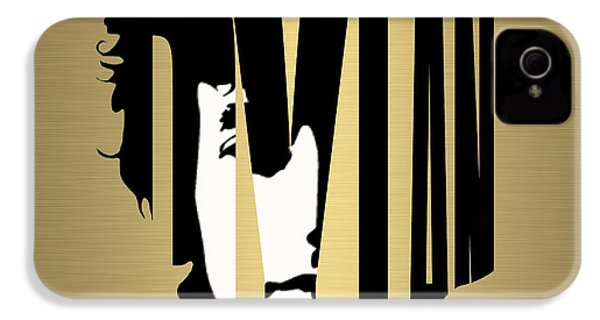 Bob Dylan Gold IPhone 4 / 4s Case by Marvin Blaine