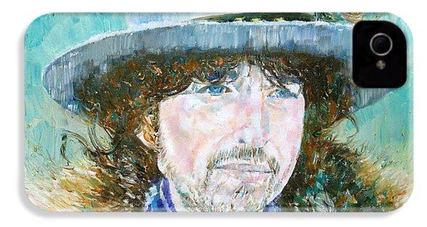 Bob Dylan Oil Portrait IPhone 4 / 4s Case by Fabrizio Cassetta