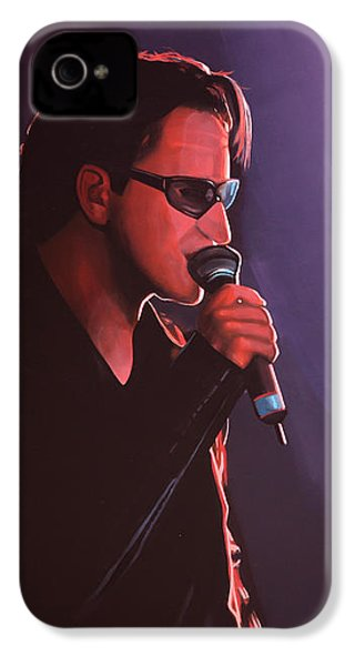 Bono U2 IPhone 4 / 4s Case by Paul Meijering