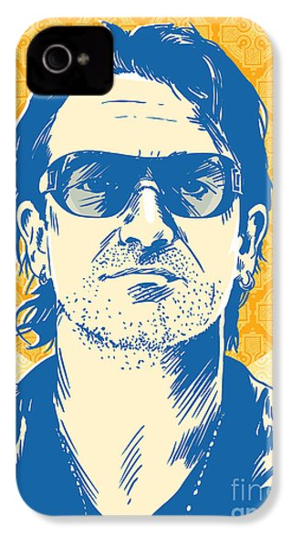Bono Pop Art IPhone 4 / 4s Case by Jim Zahniser