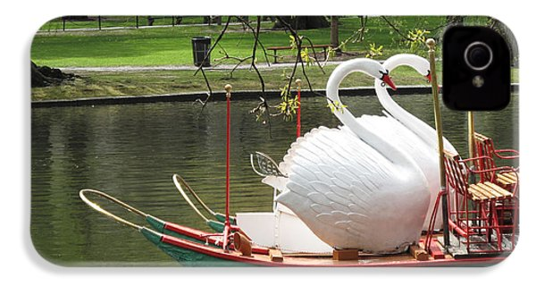 Boston Swan Boats IPhone 4 / 4s Case by Barbara McDevitt