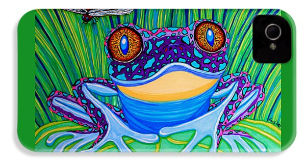 Bright Eyed Frog IPhone 4 / 4s Case by Nick Gustafson