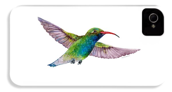 Broad Billed Hummingbird IPhone 4 / 4s Case by Amy Kirkpatrick
