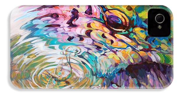 Brown Trout And Mayfly - Abstract Fly Fishing Art  IPhone 4 / 4s Case by Savlen Art