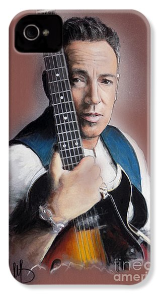 Bruce Springsteen IPhone 4 / 4s Case by Melanie D