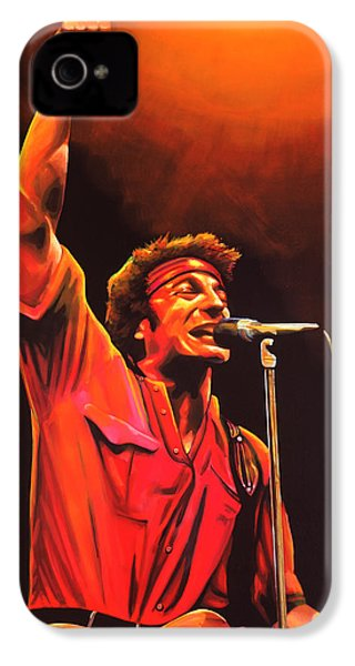 Bruce Springsteen Painting IPhone 4 / 4s Case by Paul Meijering