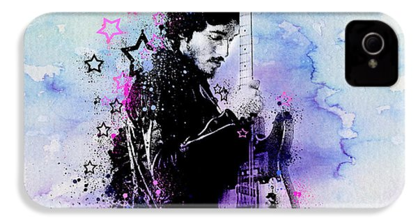 Bruce Springsteen Splats And Guitar 2 IPhone 4 / 4s Case by Bekim Art