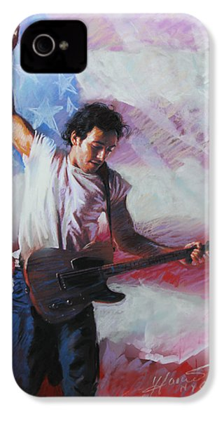 Bruce Springsteen The Boss IPhone 4 / 4s Case by Viola El