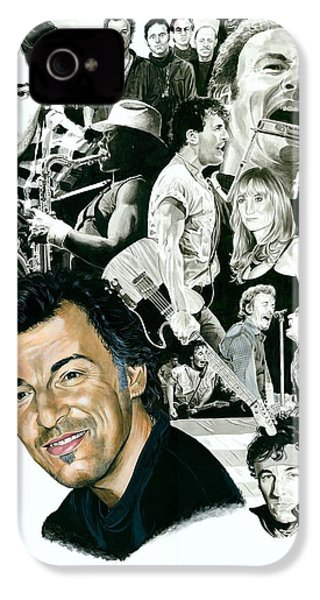 Bruce Springsteen Through The Years IPhone 4 / 4s Case by Ken Branch