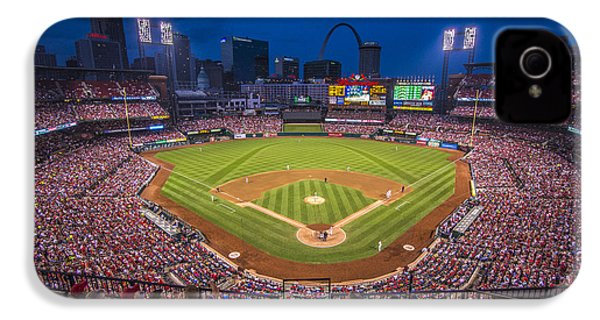 Busch Stadium St. Louis Cardinals Night Game IPhone 4 / 4s Case by David Haskett