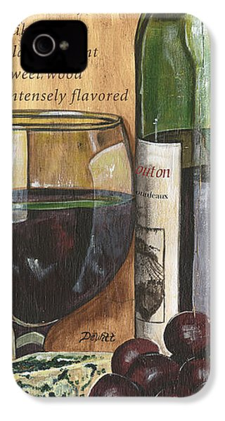 Cabernet Sauvignon IPhone 4 / 4s Case by Debbie DeWitt