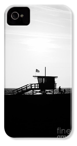 California Lifeguard Stand In Black And White IPhone 4 / 4s Case by Paul Velgos