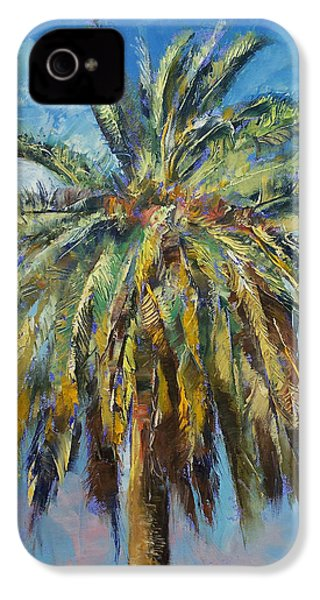 Canary Island Date Palm IPhone 4 / 4s Case by Michael Creese