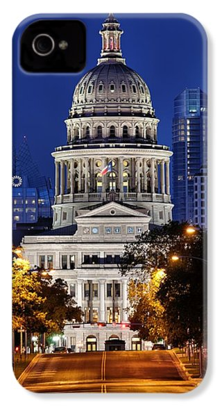 Capitol Of Texas IPhone 4 / 4s Case by Silvio Ligutti