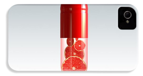 Capsule With Citrus Fruit IPhone 4 / 4s Case by Johan Swanepoel
