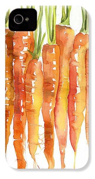 Carrot Bunch Art Blenda Studio IPhone 4 / 4s Case by Blenda Studio